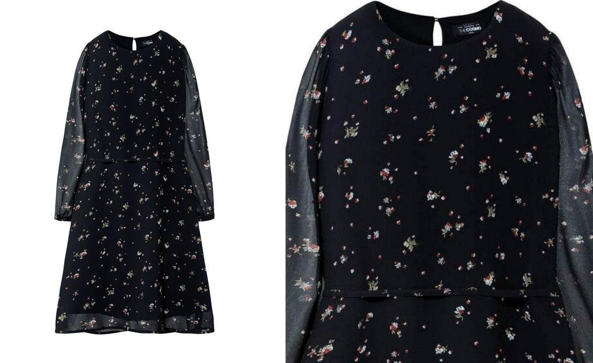 Đầm nữ The Cosmo Vanessa Dress cổ tròn, tay lỡ, dáng xòe, họa tiết hoa nhí trên nền vải voan mỏng nhẹ. Mẫu đầm có dây đi kèm, có thể mặc dạng đầm suông thoải mái hoặc cột dây ở eo tạo điểm nhấn. Đầm có giá 249.000 đồng, giảm 50% so với giá gốc.