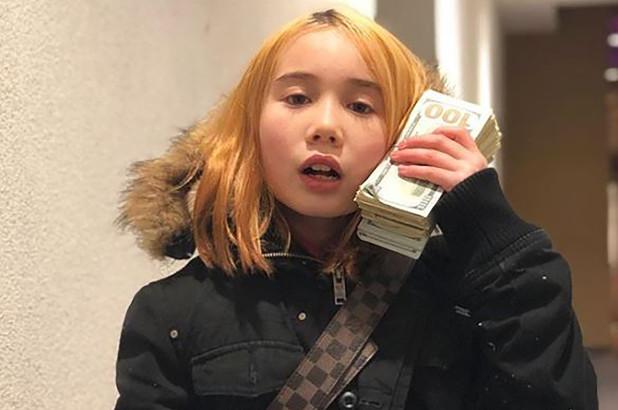 Bức ảnh khoe sự giàu có của cô bé Lil Tay sau đó đã bị bóc mẽ là toàn đồ đi mượn. Ảnh: Liltay Instagram.
