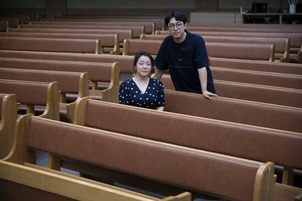 Vợ chồng Kim Ji-seon. Ảnh: NYT.