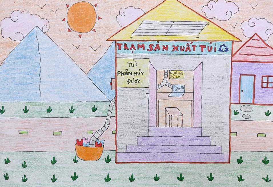 Bé Vân Như (8 tuổi) mong có trạm sử dụng năng lượng mặt trời để sản xuất loại túi phân hủy được, không gây tổn hại môi trường.  Ước mơ này của bé xuất phát khi nghe truyền hình đưa tin về ô nhiễm môi trường do rác thải từ nilon và từ việc đốt dầu mỏ, than đá...