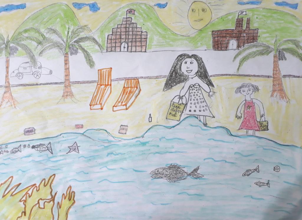 Bé Trang Thư ước mơ biển sạch và không có rác thải, cùng nhặt rác để biển sạch hơn. Bé còn mong cho các loài động vật thực vật sống dưới biển sống tr