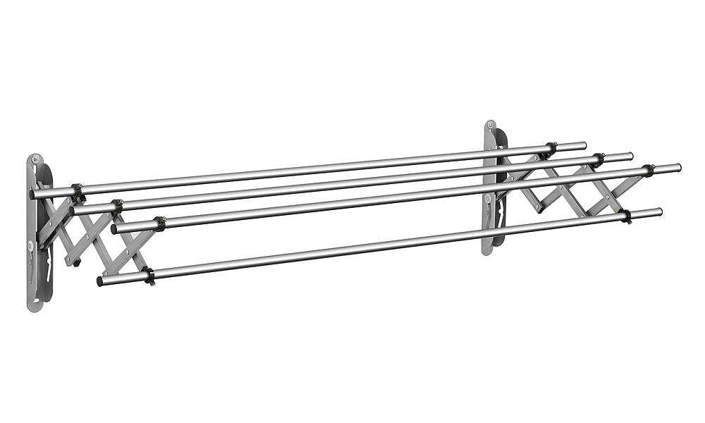 Giàn phơi gắn tường thu gọn Wellex Hàn Quốc JR4100 làm từ inox. Trọng lượng 4 kg, tải trọng 30 kg. Kích thước khi mở rộng là 100 x 54 x 34 cm. Khi không sử dụng có thể thu gọn, áp vào tường để tiết kiệm không gian. Sản phẩm đang được giảm giá 25% còn 1,45 triệu đồng.