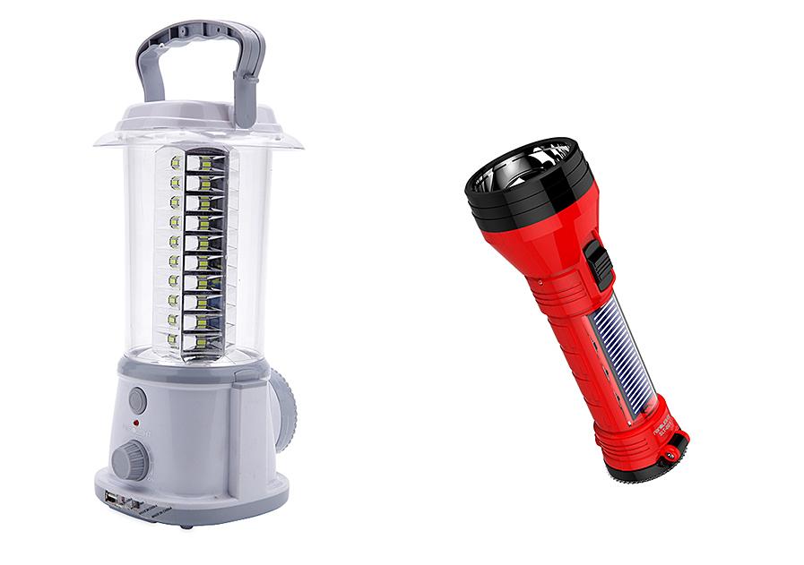 Bộ combo đèn lồng LED sạc Nanolight LL-003 và đèn pin Solar SLT-001 tiện dùng ở những khu vực khu vực hay mất điện. Đèn lồng Nanolight LL-003 với 60 bóng SMD Led và 1 bóng Led Torch, cung cấp ánh sáng trắng. Dung lượng pin: 4000 mAh, sạc đầy trong vòng 20 - 24 giờ, thời gian chiếu sáng liên tục 25 - 30 giờ. Cổng vào DC hỗ trợ sạc năng lượng mặt trời, cổng USB hỗ trợ sạc thiết bị di động. Đèn pin cũng có thể sạc điện và sạc năng lượng mặt trời, thiết kế cầm vừa tay. Bộ đôi sản phẩm đang được bán với giá ưu đãi 199.000 đồng.