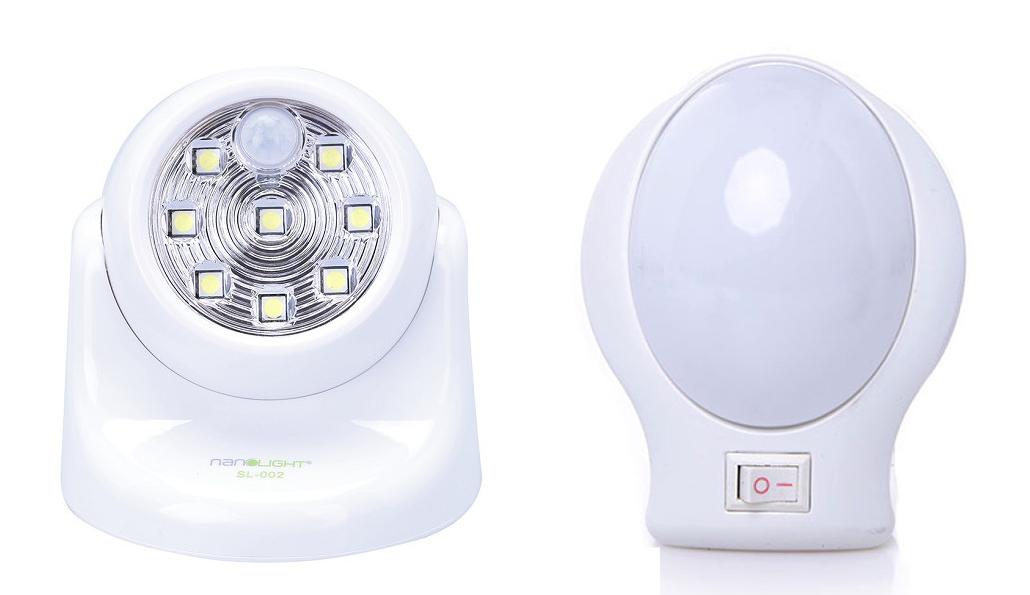 Nếu mua đèn ngủ NanoLight NL-001, cùng đèn Led cảm ứng SL-002, combo có giá ưu đãi 175.000 đồng. Đèn Led cảm ứng không dây, sử dụng 3 pin AA, công suất 1,6 W, hoạt động bằng cảm ứng ánh sáng và chuyển động, tự động tắt sau 3 phút không có người. Đèn có lỗ treo và keo 2 mặt 3M, dễ lắp đặt.