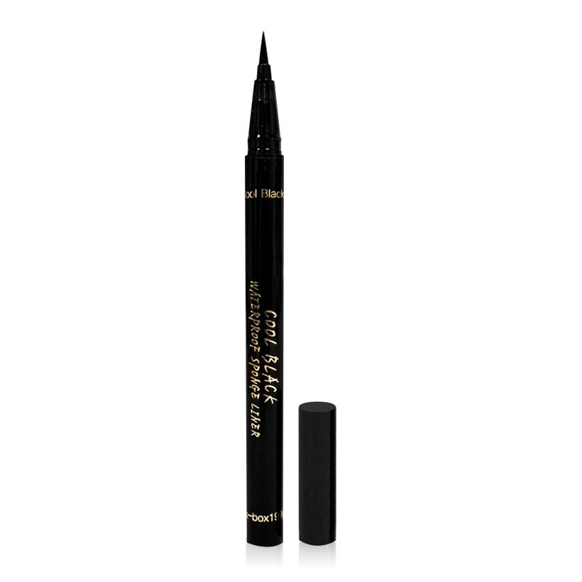 Cool Black Sponge C.02 Korean eyeliner is also a line of eyeliner that does not float, stick for long.  The pen-shaped design fits in the hand, the pen nib, the ink stored in the pen body with the pneumatic mechanism, helps the ink be pushed onto the nib evenly and easy to draw.  The product is priced at 154,000 VND, 54% lower than the original price.