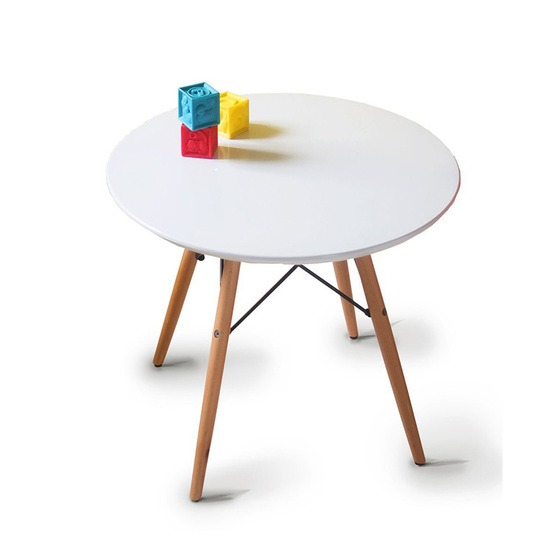 Eiffel round table with wooden legs 60cm and white color 1,069 million VND (1.64 million VND).