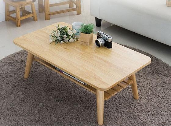 Chiba rubber wood tea table costs 1,229 million VND (original price 1.89 million VND).