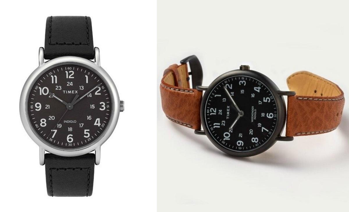 Đúng như tên gọi, mẫu đồng hồ nam Timex Weekender TW2T30700 thích hợp cho những cuộc hẹn hò, gặp gỡ bạn bè và người yêu vào dịp cuối tuần. Với thiết kế trẻ trung, năng động, mặt số màu đen với hai vòng số, Weekender chẳng những không gây rối mắt mà còn giúp tạo điểm nhấn cá tính cho người đeo. Dây đeo da màu đen và nâu da bò cho bạn đa dạng lựa chọn. Sản phẩm có giá 1,735 triệu đồng.