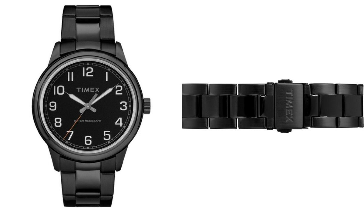 Đồng hồ nam Timex New England TW2R36800 được nhiều chàng ưa chuộng nhờ vẻ ngoài nam tính với dây đeo kim loại, vỏ máy và mặt số đồng bộ màu đen. Đường kính mặt 40 mm, vừa với hầu hết cỡ cổ tay nam giới. Sản phẩm bảo hành 12 tháng, hiện có giá giảm 42% còn 1,519 triệu đồng.