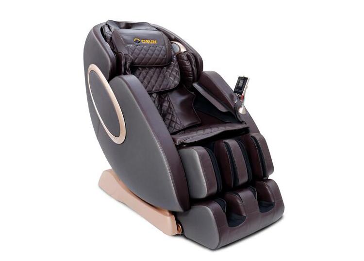 Ghế Massage Osun SK 66 có khung đỡ hình chữ SL, góc ngả 110-155 độ mang lại sự thoải mái cho người dùng. Ghế bọc da PU, chịu được tải trọng 150 kg. Các thủ pháp massage bao gồm: miết, ấn, nhào, vỗ đập, day, đấm, bóp, đẩy. Vùng vai, gáy, lưng, mông được massage bằng con lăn. Vùng đùi, bắp tay, bắp chân được massage bằng túi khí và con lăn. Lòng bàn chân được các con lăn cao gió, bấm huyệt. Hệ thống con lăn chuyển động linh hoạt theo các hướng huyệt đạo. Nhiệt hồng ngoại hỗ trợ tăng tuần hoàn máu. Ghế có giá niêm yết 79,2 triệu đồng, giảm 38% còn 48,9 triệu đồng, ngoài ra còn tặng xe đạp tập, bạt phủ ghế, bình xịt vệ sinh ghế và thảm kê ghế.