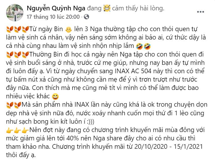Chia sẻ của Nguyễn Quỳnh Nga.