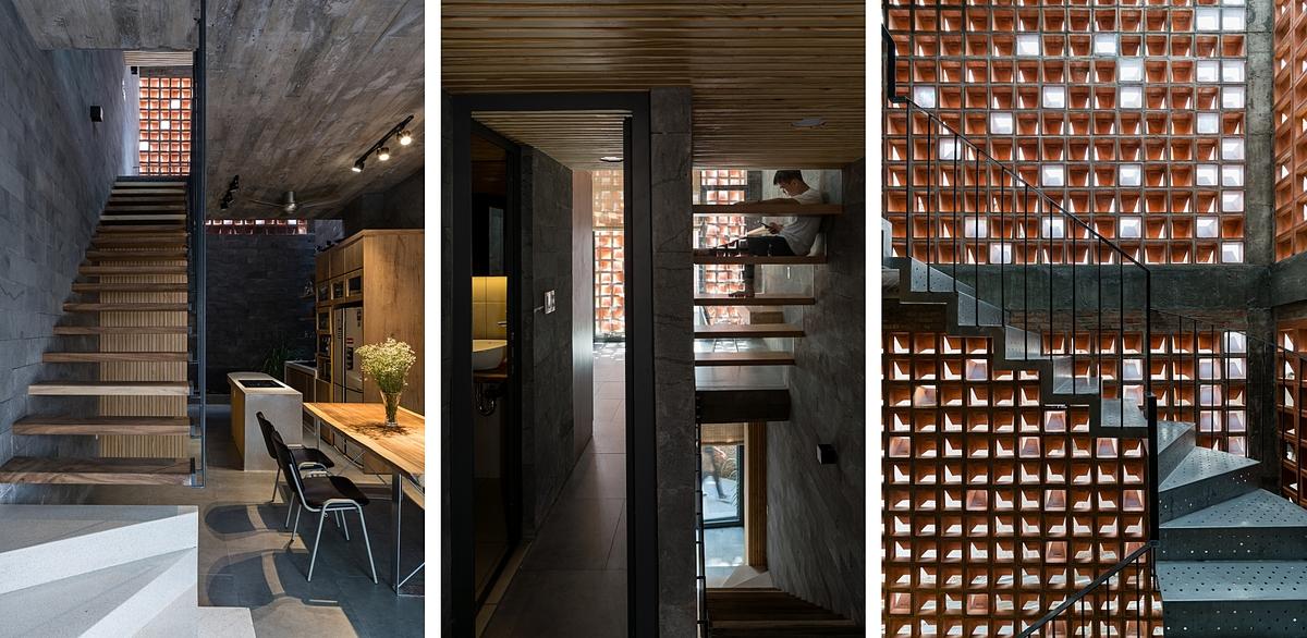 Hình thức và chất liệu thang trong nhà liên tục được thay đổi. Ảnh: Quang Trần.