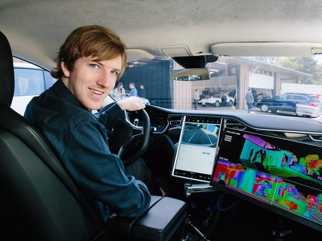Cuộc đua công nghệ xe hơi tự lái đã thu hút hàng tỷ USD đầu tư nhưng mảng kinh doanh này lại chưa tạo ra được nhiều tỷ phú. Austin Russell là tên tuổi hiếm hoi trong ngành này. Ảnh: CNBC.