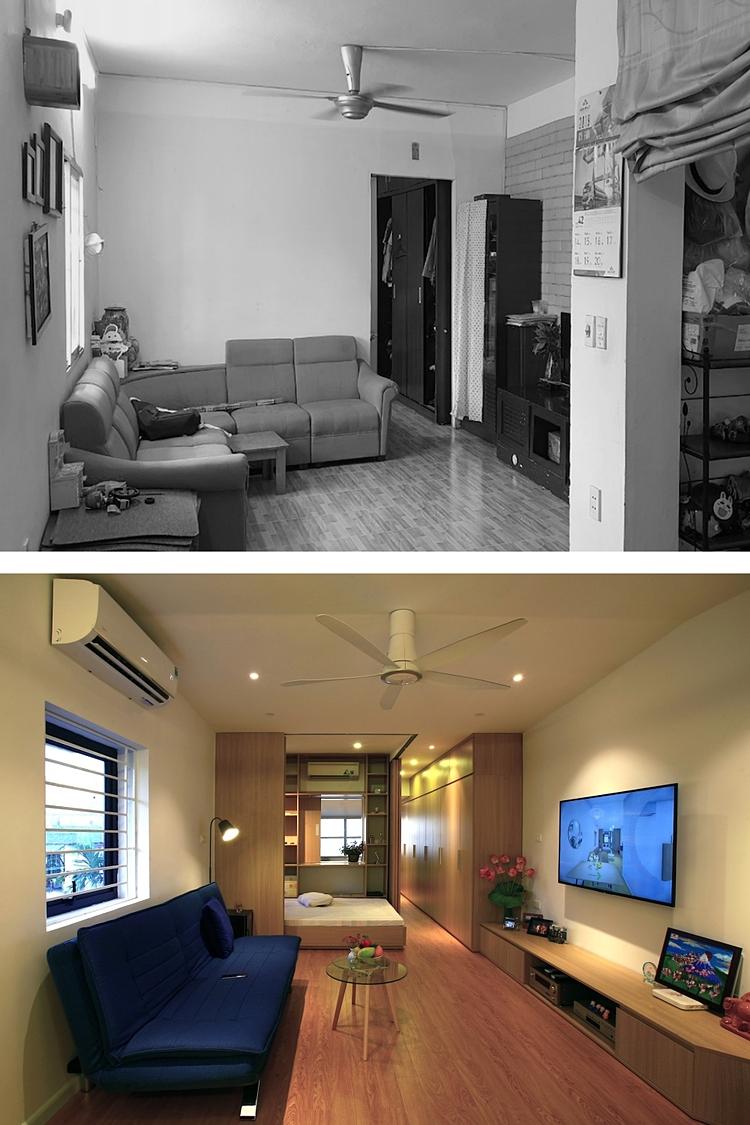 Các vách ngăn được loại bỏ giúp căn hộ thông thoáng, sảng sủa và rộng rãi hơn. Ảnh: ACCESS design lab.