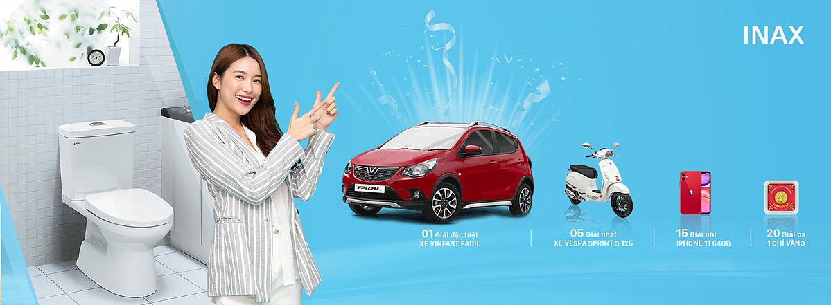 Tại chương trình Mua INAX, lái Vinfast về nhà, khách hàng có cơ hội nhận xe Vinfast Fadil.