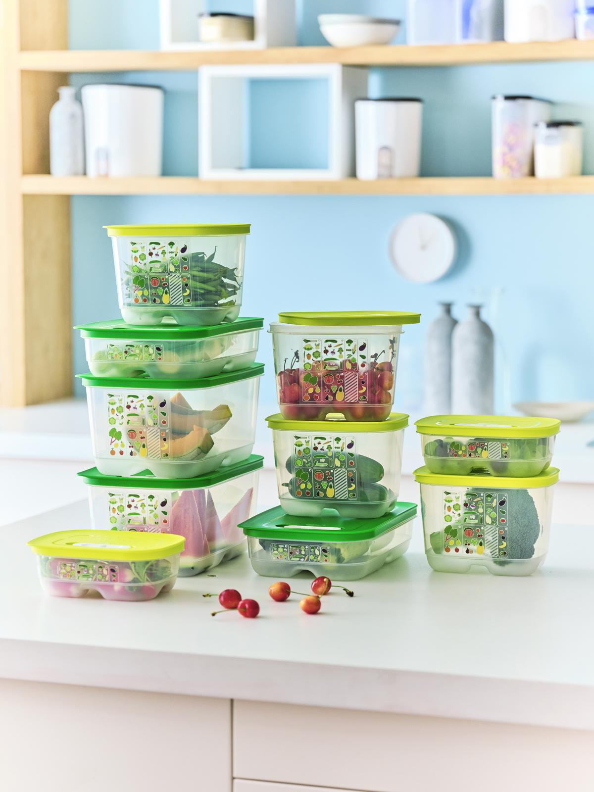 Hộp bảo quản thực phẩm của Tupperware giúp đồ ăn tươi ngon.
