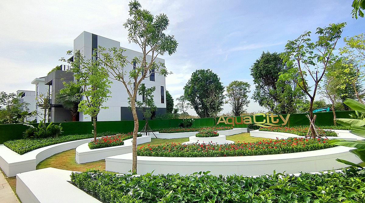 Không gian xanh mát như các khu nghỉ dưỡng tại Aqua City. Ảnh: Novaland.