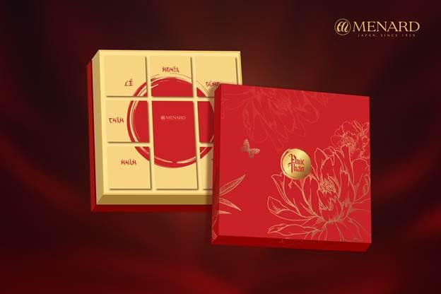 Hộp quà Phúc Thần – Ý tưởng quà Tết 2021 từ Menard. Ảnh: Menard Việt Nam.