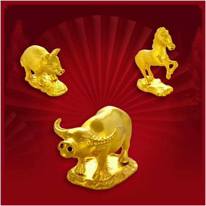 Bảo Tín Minh Châu chế tác 12 con giáp bằng vàng ròng 24k.