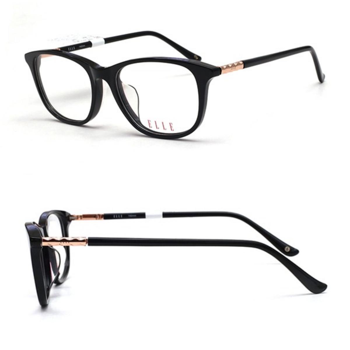 Mắt kính Elle EL14392-BK với dáng tròng hình chữ nhật bo tròn các cạnh tạo cảm giác mềm mại, giúp hài hòa các đường nét trên gương mặt. Chất liệu nhựa và hợp kim cao cấp, hạn chế biến dạng hay gãy khi va đập. Càng kính phối kim loại vàng tạo điểm nhấn sang trọng cho người đeo.