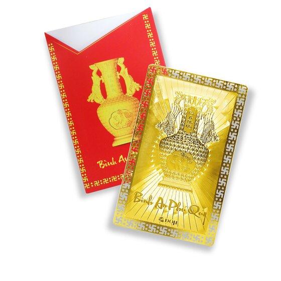 Thẻ bình an phú quý DJDEPHUQUY19Đ - Vàng 165.000đ(- 25 %)- Kích thước: 5x8 cm- Phù hợp làm quà tặng trong dịp đầu năm mới.
