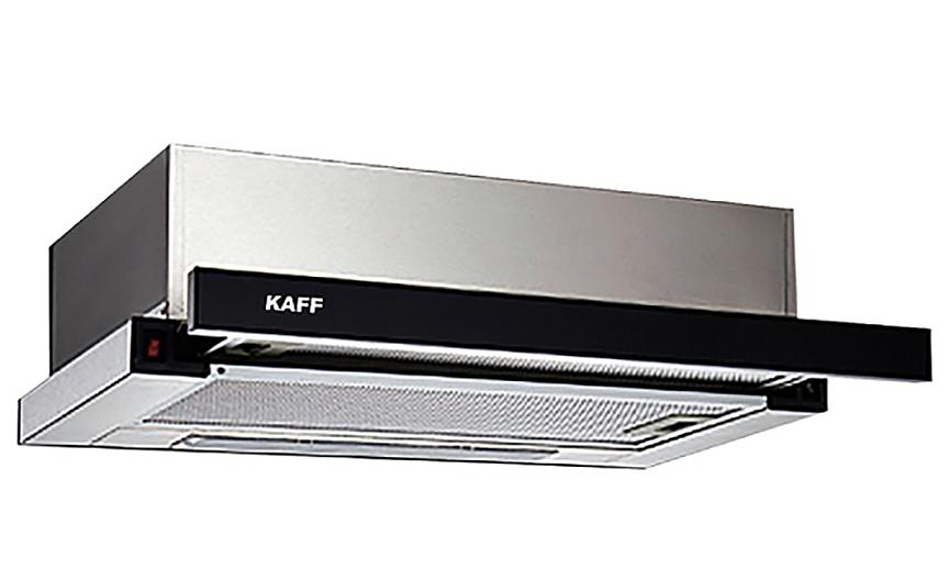 Máy hút mùi âm tủ bếp 7 tấc KAFF KF-TL70H thích hợp với những căn bếp đã có sẵn tủ bếp, chỉ cần mua và lắp máy vào kệ tủ. Hai động cơ turbin hoạt động với công suất hút 750m3/h cùng chế độ khử mùi trực tiếp bằng than hoạt tính, giúp không gian bếp không bám mùi trong khi nấu nướng. Vỏ máy được thiết kế bằng thép inox và kính cường lực. Lưới lọc bằng hợp kim nhôm 3 lớp. Phím điều khiển cơ thuận tiện với 3 cấp độ hút. Độ ồn tối đa dưới 48db. Sản phẩm bảo hành 36 tháng. Giá niêm yết 3,88 triệu đồng, giá ưu đãi cuối tuần 2,695 triệu đồng.