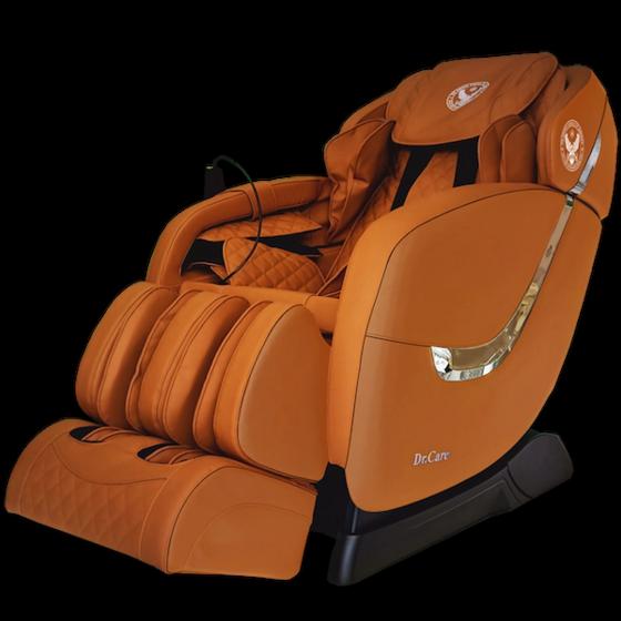 Ghế massage Dr.Care Golfer GF838 giảm 31.000.000đ(- 49 %)Kích thước :    1280 x 830 x 1200trang bị 2 bộ máy massage tân tiến nhất của Dr.Care tại Mỹ (2 máy trong 1 ghế), 2 máy massage có tổng cộng là 8 tay đấm, tương đương với 4 người xoa bóp đấm lưng cùng lúc. Công nghệ này giúp tăng gấp đôi hiệu quả massage, giúp tiết kiệm thời gian, giảm đau nhức nhanh hơn gấp 2 lần so với ghế massage chỉ có 1 bộ máy.Điều đặc biệt của công nghệ này là 2 máy massage sẽ giữ chặt cơ thể, kéo căng, duỗi thẳng cơ thể của bạn, đem đến một cảm giác thư giản và thoải mái tột đỉnh nhất.Nhiều chương trình massage thích hợp dành cho nhiều lứa tuổi: người cao tuổi, trung niên, thanh niên trẻ, đàn ông mạnh mẽ và phụ nữ thích êm ái diụ nhẹ....Giao hàng miễn phí toàn quốc    Dùng thử ghế miễn phí 5 ngày tận nhà.    Đổi trả 14 ngày sau khi mua với bất kỳ lý do gì.
