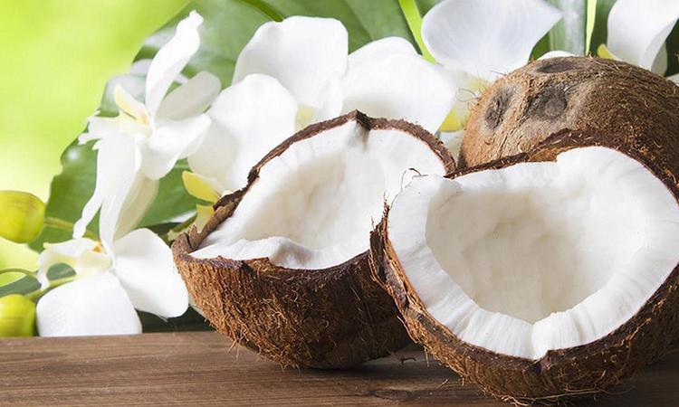 Với lượng chất béo và calo cao, cơm dừa có thể dẫn đến tăng cân nếu ăn thường xuyên. Ảnh minh họa.