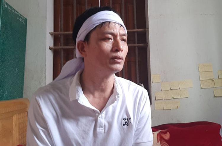 Anh Trần Văn Hải, trú huyện Nghi Lộc. Ảnh: Phương Linh