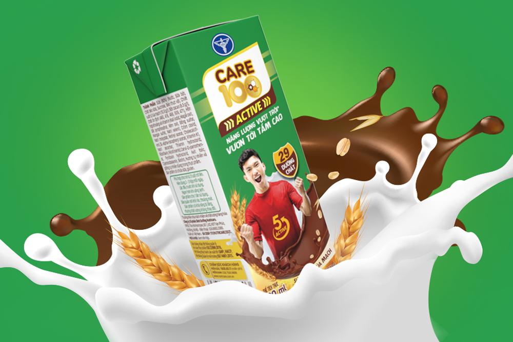 Sữa cacao lúa mạch Care 100 Active là sản phẩm mới nhất của nhãn hàng Care 100 thuộc Nutricare. Trước đó, Nutricare - Thương hiệu Quốc gia Việt Nam từ năm 2018 - nổi tiếng với các sản phẩm kết hợp giải pháp dinh dưỡng và dinh dưỡng y học.