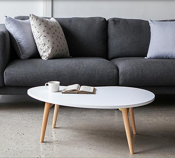 Bàn trà sofa, bàn ăn hạt đậu phong cách bắc âu chân gấp gọn thương hiệu igea gp96 màu trắng giảm 27% còn 341.000 đồng; kích thước dài 90 cm - rộng 60 cm - cao 42 cm; chất liệu mặt bàn gỗ MDF phủ melamin, chân gỗ sồi.