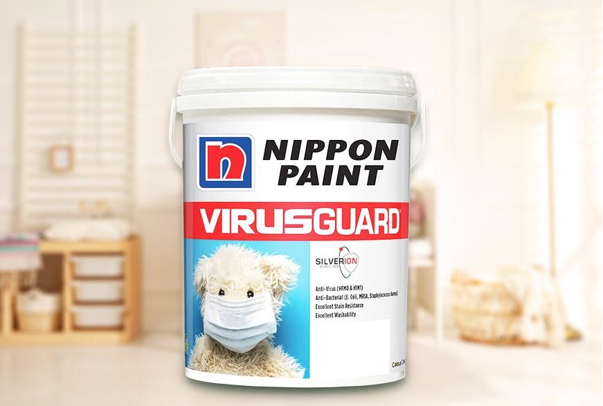 Sơn VirusGuard của Nippon Paint được ứng dụng công nghệ ion bạc. Ảnh: Nippon Paint.