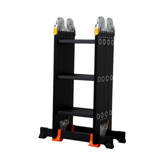 Thang nhôm gấp đa năng 4 khúc Kachi MK239 (12 bậc) - Đen 1.499.000đ(- 28 %)Chiều cao tối đa chữ A là 1.73M, duỗi thẳng thành chữ I là 3.58M, nhiều tư thế sử dụngThang làm từ chất liệu nhôm được sơn tĩnh điện giúp tăng tuổi thọ cao, chống ăn mònKhóa thang an toàn, chắc chắn được bọc nhựa, cùng đế cao su chống trượt dưới chân thangTải trọng lên đến 150kgThang nhôm gấp đa năng 4 khúc 12 bậc Kachi là dòng thang gấp đa năng được làm từ chất liệu nhôm vô cùng chắc chắn, chịu được tải trọng lớn lên đến 150kg, bạn có thể sử dụng thang thành nhiều kiểu khác nhau nhờ vào thiết kế gấp khúc, giúp hỗ trợ được đa dạng những công việc trên cao như lắp đặt hay sửa chữa rất tiện lợi.Với dòng thang MK239 bao gồm 4 đoạn, mỗi đoạn có 3 bậc. Có đa dạng kiểu dáng như M, A, I, U giúp cho khách hàng dễ dàng lựa chọn phù hợp với từng yêu cầu công việc, trong đó:- Chiều cao tối đa kiểu dáng chữ A: 1.73m- Chiều cao tối đa kiểu duỗi thẳng chữ I: 3.58m- Chiều cao khi xếp kiểu chữ U ngược: 0.97mChiều cao cao khi gấp gọn: 0.95m