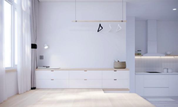 Gợi ý thiết kế một không gian sinh hoạt chung kiểu tối giản.