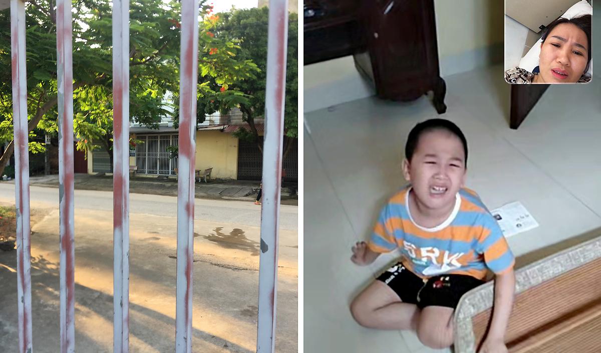 Cách nhà chỉ một con đường chừng 20 mét, Đạt và chị gái không thể gặp bố mẹ trong ít nhất một tháng tới. Ảnh: Nhân vật cung cấp.