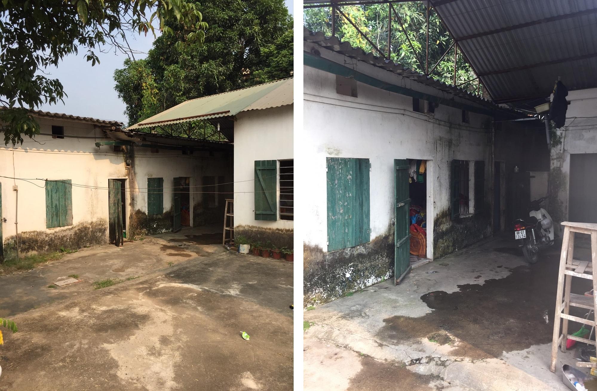 Trước cải tạo, căn nhà đã xuống cấp và không còn phù hợp với nhu cầu sinh hoạt của gia đình sáu người.