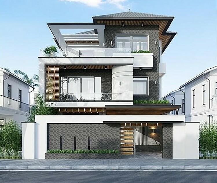 Gạch kiến trúc Wavy Mosaic  tạo ấn tượng thị giác độc đáo cho ngoại thất ngôi nhà.