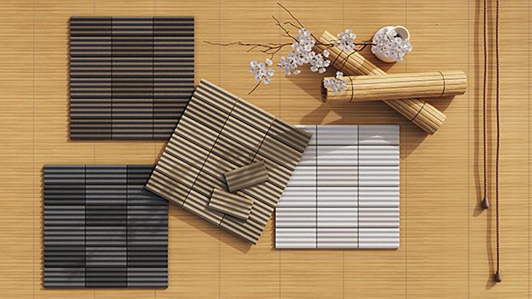 (Mỗi vỉ gach Wavy Mosaic chỉ có 2 gam màu nhưng dường như hàm chứa bên trong cả tinh hoa thiết kế của người Nhật Bản)