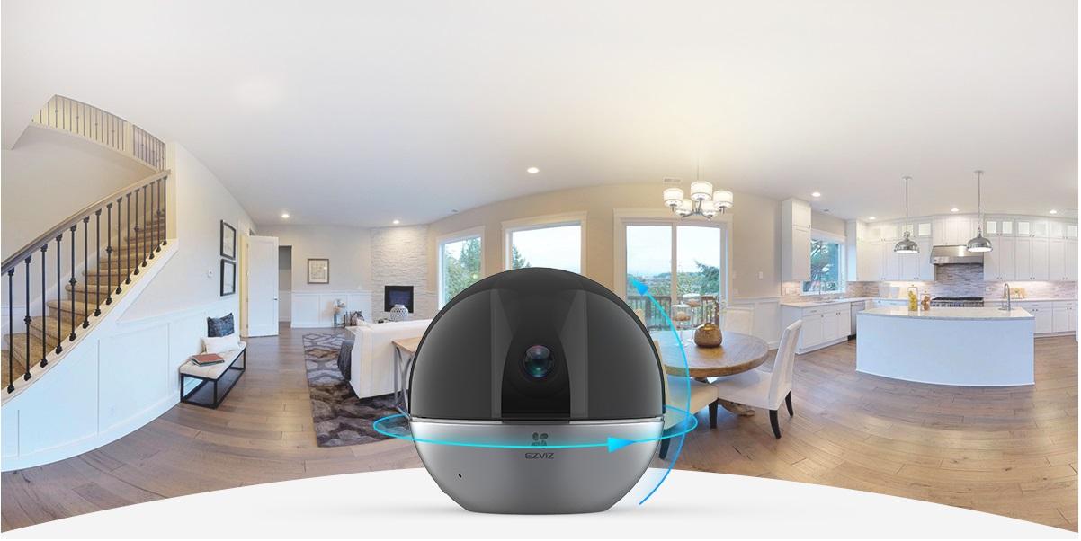 Camera Wi-Fi trong nhà giúp bạn thâu tóm cả không gian và nói chuyện với người thân.