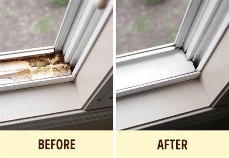 Rãnh cửa sổ là nơi khó vệ sinh trong nhà. Ảnh: brightside