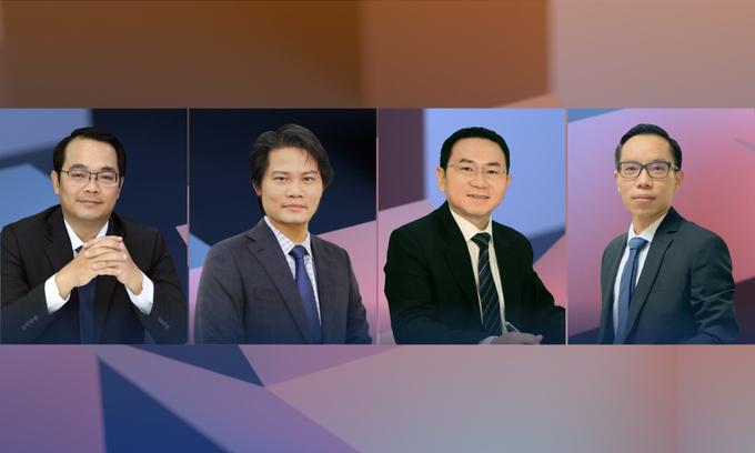 Các chuyên gia Huỳnh Minh Tuấn, Quách Mạnh Hào, Trương Hiền Phương và Lê Anh Trí (từ trái sang) sẽ cùng chia sẻ kinh nghiệm trong eConference dành cho nhà đầu tư F0 lúc 20h tối 30/6.
