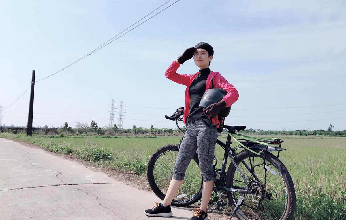 Thu Hương dành nhiều thời gian trong ngày cho thiền và thể dục. Ảnh: Nhân vật cung cấp.