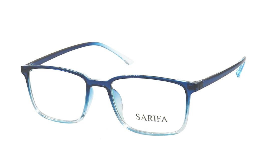 Gọng kính Sarifa 2468 làm từ chất liệu plastic và hợp kim titanium, Đệm mũi liền. Mắt kính rộng 53 mm, cầu kính rộng 18 mm, càng kính dài 147 mm. Gọng có các màu xám, đen, xanh, xanh dương, khác, nâu. Sản phẩm đang được ưu đãi 40% còn 269.000 đồng.