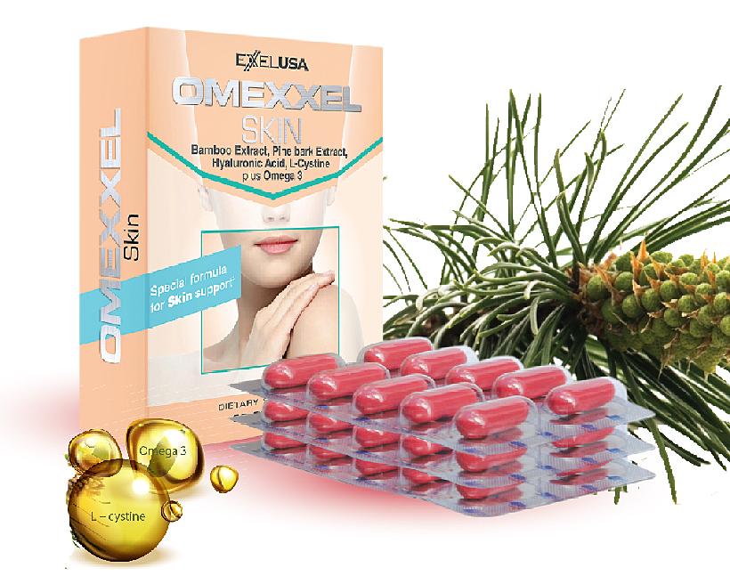 Combo Omexxel Skin 60 viên - tặng 2 mặt nạ 3w clinic Hàn Quốc giảm 28% còn 649.000 đồng; hỗ trợ người bị chấn thương, sau phẫu thuật; người trên 40 tuổi, phụ nữ bị nám da, trứng cá; không dành cho trẻ em dưới 12 tuổi; không dành cho những người mẫn cảm với các thành phần của viên uống.Sản phẩm không phải là thuốc, không có tác dụng thay thế thuốc chữa bệnh. Giấy phép quảng cáo số 269/2015/XNQC-ATTP do Cục An toàn thực phẩm, Bộ Y tế cấp ngày 13/2/2015.