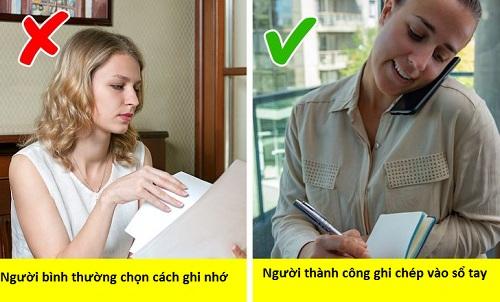 Ghi chép sẽ giúp những người thành công ghi nhớ chính xác và nảy ra ý tưởng. Ảnh minh họa: Depositphotos.com