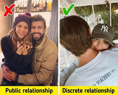 Hãy cân nhắc trong việc chia sẻ chuyện tình cảm cá nhân. Đôi khi, việc thể hiện tình yêu có thể khiến đối phương không vừa lòng vì để lộ thông tin về họ. Ảnh: 3gerardpique/martalozanop /Instagram