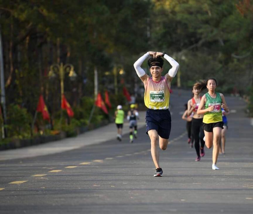 Lã Thành Hoan là chân chạy trẻ đầy tiềm năng của Make Runner Great. Ảnh: NVCC.