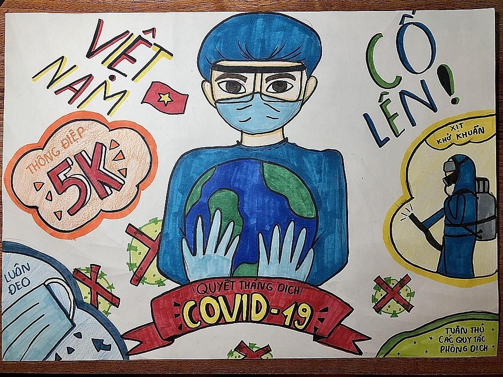 Bức tranh tham gia cuộc thi của Nguyễn Mai Anh, Hà Nội.