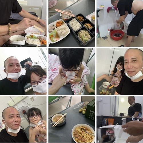 Ông Thống khoe với vợ cảnh chăm con tại bệnh viện. Ảnh: Nhân vật cung cấp