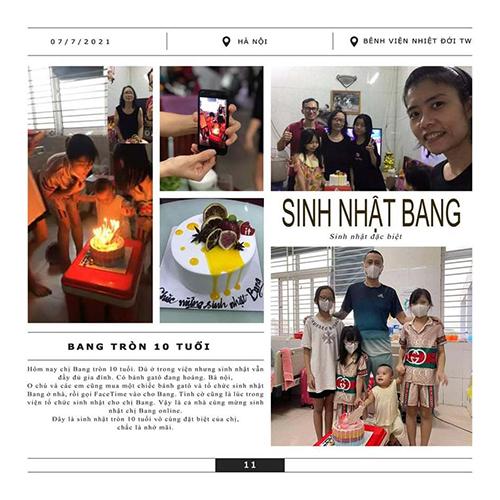 Sinh nhật đặc biệt của bé Lê Khánh được người thân lưu lại trong những trang nhật ký. Ảnh: Nhân vật cung cấp